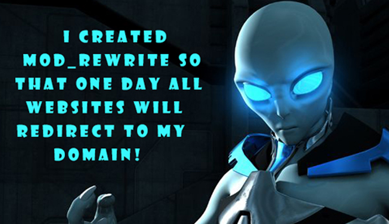 alien with mod rewrite quote