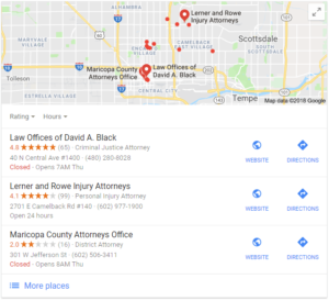 local search results attorneys phoenix